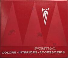 1966 Pontiac Color and Upholstery Dealer Album GTO Tempest LeMans Bonneville Etc
