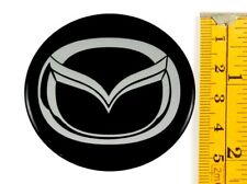 "MAZDA *4 x NEW* Emblems 55mm (2 3/16"") WHEEL CENTER CAP STICKERS 3D DECALS"
