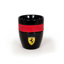 Ferrari Scudetto Shield Team Mug Tea Coffee Cup Black no Handles