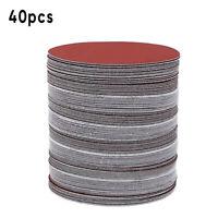 40pcs 150mm Hook Loop Sanding Discs 400-2000 Grit Sandpaper Disc Circular Pads