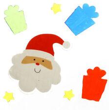 MagicGel Fensterbilder Weihnachten Santa mit Geschenken Sternen