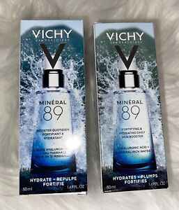 2 Vichy Mineral 89 Fortifying & Hydrating Skin Booster 1.69oz Exp 05/2022+