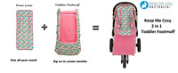 Keep Me Cosy™ Pram Liner + Footmuff 2 in 1 Set (Toddler), Universal - Flamingo