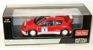 1/18 Peugeot 206 WRC  Total   RACC Rally Catalunya Spain 2002  G.Panizzi