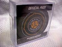 2018 ECHL Norfolk Admirals (Anaheim Ducks) Official Game Hockey Puck W/Cube