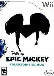 DISNEY EPIC MICKEY COLLECTOR'S EDITION FOR NINTENDO Wii NEW FACTORY SEALED!