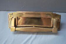In ottone/bronzo Art Deco Letter Box BELLISSIMO DESIGN in un-OTTONE LACCATO