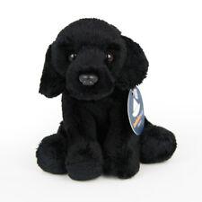 Stofftier schwarzer Labrador, sitzend, Hund, Plüschtier (H. ca. 11 cm)
