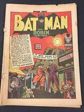 BATMAN 16, VG-, 1940s DC COMICS, COVERLESS BUT COMPLETE