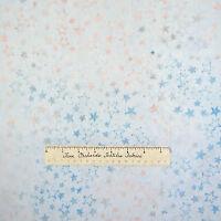Batik Christmas Fabric Tonga Jack Frost Stars Light Blue Timeless Treasures YARD