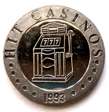 SLOVENIA NOVA GORICA HIT CASINOS 1993 UNC Token 24.3mm 7.4g CuNi II6.4