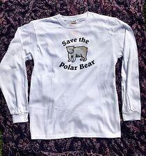 Endangered Animals / Species Save the Polar Bear Long Sleeve T-shirt Adult 2XL