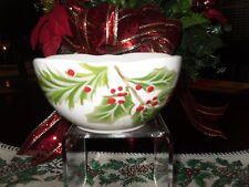 MAGENTA INC CHRISTMAS HOLLY BERRY SET/3 SOUP/SALAD BOWLS HOLIDAY WINTER NEW