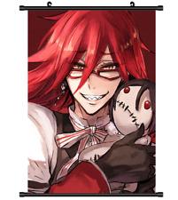 3809 Anime Kuroshitsuji Black Butler Grell Sutcliff wall Poster Scroll
