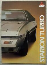 MITSUBISHI COLT STARION TURBO Car Sales Brochure 1982 #0482