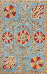 Art And Crafts Vegetable Dye Super Kazak Oriental Area Rug Hand-knotted Wool 6x9