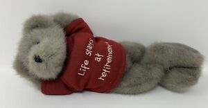 Boyds Bear Ben Hardley Doinnuttin Life Starts At Retirement Plush Stuffed Animal
