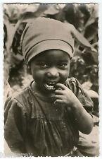 CPSM 01 BEBE ENFANT FILLETTE NOIRE ETHNIE NEGRE AFRIQUE AEF AOF AFRICA NEGRITUDE