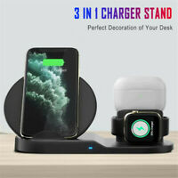 Qi Wireless Fast Charger Charging Stand Fit For Samsung Galaxy Apple iPhone XS