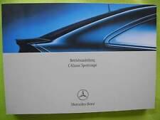 Neu C-Klasse Sportcoupe Mercedes neue Bedienungsanleitung