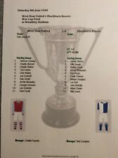 1940 West Ham United v Blackburn Rovers War Cup Final Matchsheet