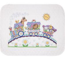 Cross Stitch Kit ~ Dimensions Baby Express Animal Train Crib QUILT #73427