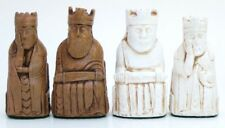 "ISLE OF LEWIS CHESS MEN - HAND CAST COLLECTORS' SET -  K= 3.5"" (maple) 457"