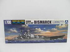 MES-45041Aoshima 042595 1:700 Bismarck Bausatz geöffnet,
