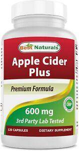 Best Naturals Apple Cider Vinegar Plus Weight Loss Supplement 120 Capsules