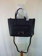 NWT FURLA Black Onyx Pebbled Leather Small Julia Tote Bag  368 - Made in  Italy ee2e886903b17