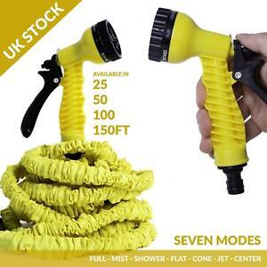 Retractable Expandable Stretch Garden Hose Water Pipe & Spray Gun Nozzle