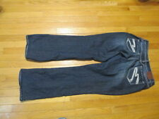 Maurices blue denim Jeans 9/10 long  w 34  x L 34 thick stitching