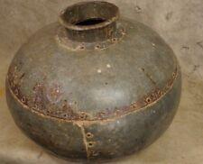 Antique 19th Century Wrought Iron Water Storage Jug India