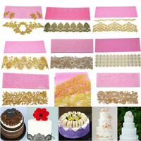 Edible Crown Royal Lace Cake Silicone Embossing Mat Fondant Candy imprint Mould