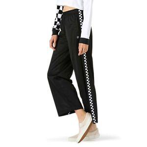 VANS Women's Check Mark Track Pants Black New