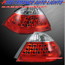 Set of Pair Red Clear OE Style Taillights for 2006-2007 Honda Accord 4dr Sedan