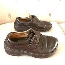 Birkenstock size 36 Leather Dark Brown Clogs Closed Toe W L 5 buckle footprint