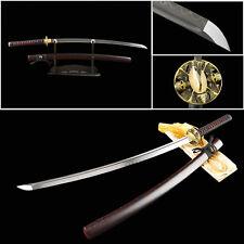 Clay tempered Japanese samurai Katana real handmade sword folded steel sharp