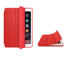 For Apple iPad Air Genuine Leather Smart Case Cover Slim Wake Red