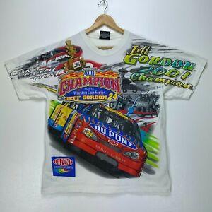 2001 Jeff Gordon Winston Cup Champions Vtg T-shirt Medium Nascar All Over Print