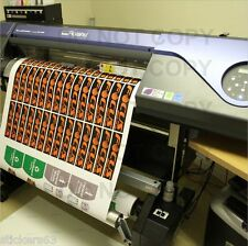 10 metres Custom Printed Vinyl Stickers decals labels business many uses