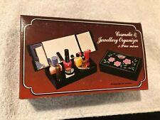New listing 3 Section Makeup Perfume Organizer w/3 Mirrors 6 x 3 1/2 x 1 1/2 Hong Kong New