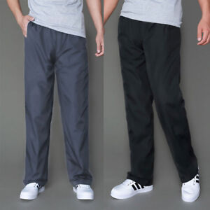 Men's Sport Trousers Running Quick-Dry Straight Loose Fleece Warm Casual Long
