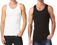 6 X MENS VESTS 100% Cotton TANK TOP SUMMER TRAINING GYM TOPS