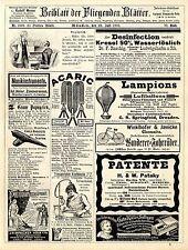 Kemmerich cond. Bouillon Neuwell Frankfurt Oder Gartenzerge Histor.Annoncen 1893