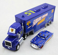 Disney Pixar NO.51 Doc Hudson Hornet Mack Truck&Doc Hudson Car Diecast Set Toys