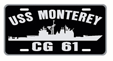 USS MONTEREY CG 61 License Plate Military Sign USN 001