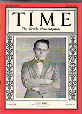 1927 Time May 16 -San Marino Progress;Marines land in Shanghai;Christian Science