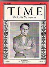 1927 Time May 16 -San Marino Progress;Marines land in Shanghai;Christian Science