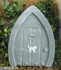 Plaster concrete cat fairy door plastic mold L@@K 5000 molds in my EBAY store